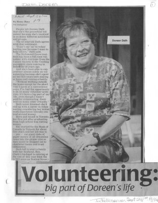 Volunteering: big part of Doreen's life