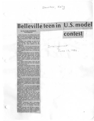 Belleville teen in U.S. model contest