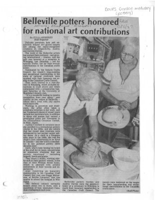 Belleville potters honored for national art contributions