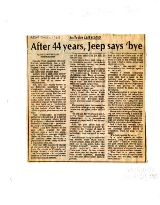 Sells his last stamp: After 44 years, Jeep says 'bye
