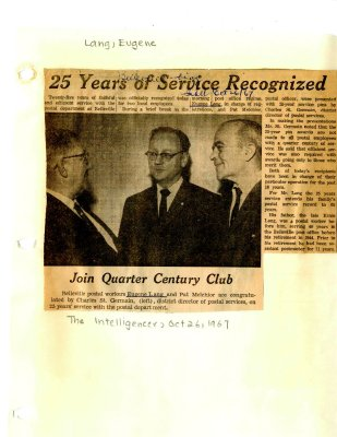 25 Years of service recongnized - Join quarter century club