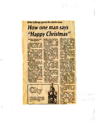 """Mike LaBarge greets the whole town: How one man says """"Happy Christmas"""""""
