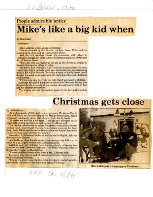 Mike's like a big kid when Christmas gets close