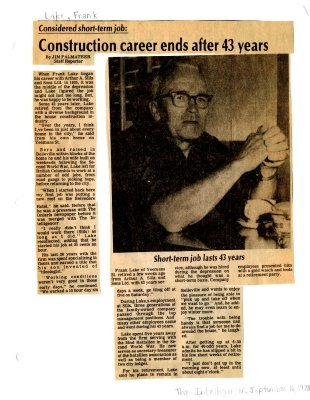 Construction career ends after 43 years