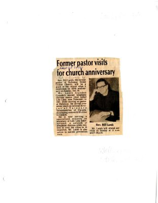 Former pastor visits for church anniversary