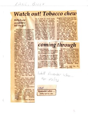 Remember When: Watch out! Tobacco shew coming through