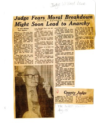 Judge fears moral breakdown might soon lead to anarchy