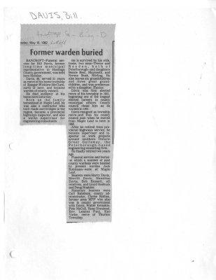 Former warden buried