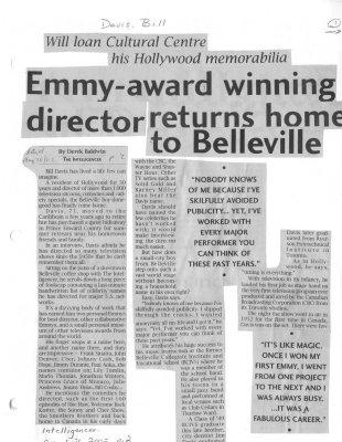 Emmy-award winning director returns home to Belleville