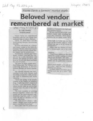 Beloved vendor remembered at market