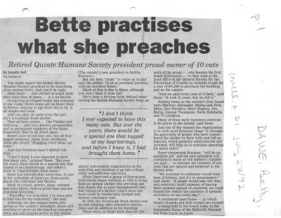 Bette practises what she preaches