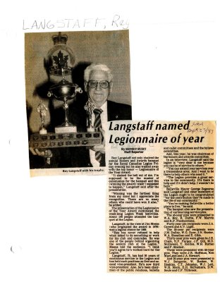 Langstaff named Legionnaire of year