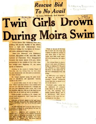 Rescue bid to no avail: twin girls drown during Moira swim