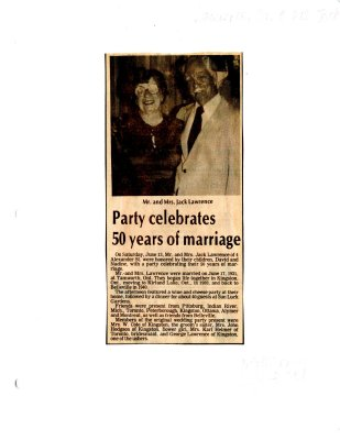 Party celebrates 50 years of marriage