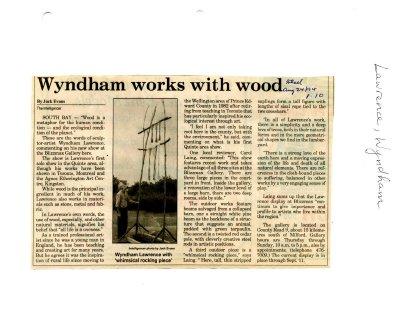 Wyndham works with wood