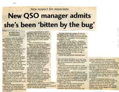 New QSO manager admits she's been bitten by the bug