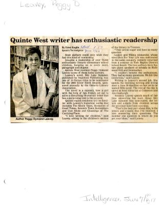 Quinte West writer has enthusiastic readership