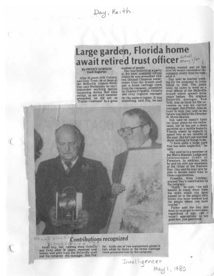 Large garden, Florida home await retired trust officer