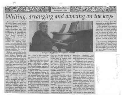 Writing, arranging and dancing on the keys