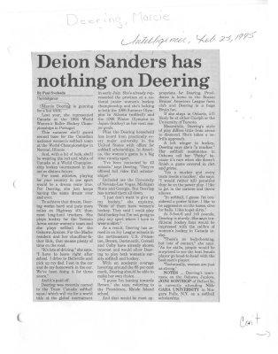 Deion Sanders has nothing on Deering