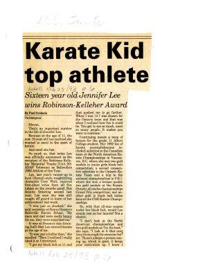 Karate Kid top athlete