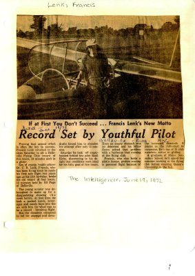 Record set by youthful pilot
