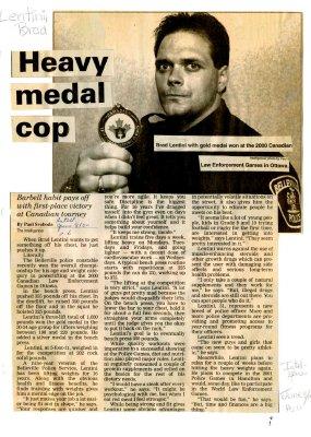 Heavy medal cop