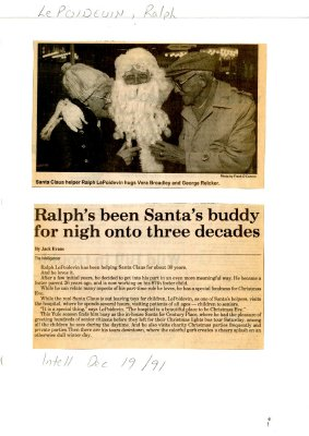 Ralph's been Santa's buddy for nigh on three decades