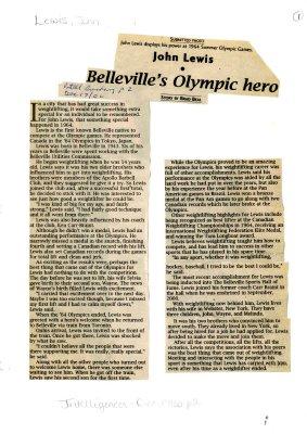 John Lewis: Belleville's Olympic hero