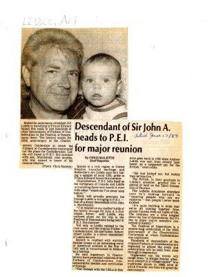 Descendant of Sir John A. heads to P.E.I. for major reunion