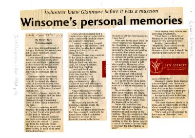 Winsome's personal memories