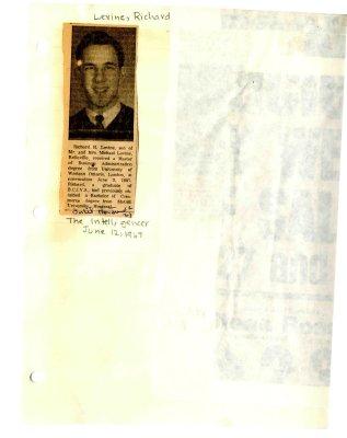 Richard H. Levine graduation