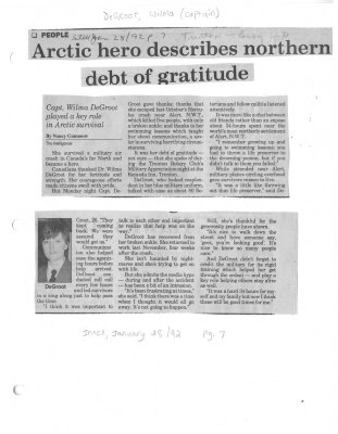 Arctic hero describes northern debt of gratitude