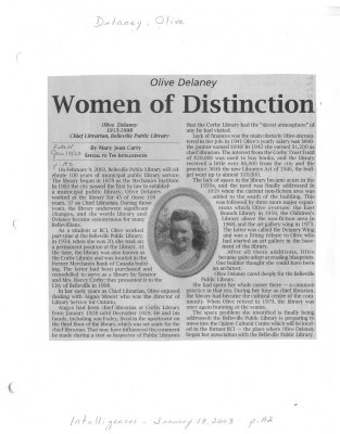 Olive Delaney: Women of Distinction
