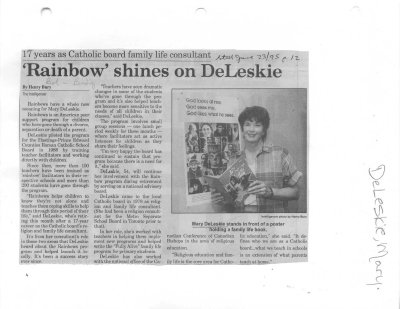 'Rainbow' shines on DeLeskie