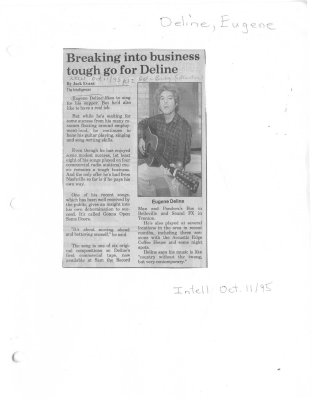 Breaking into business tough go for Deline