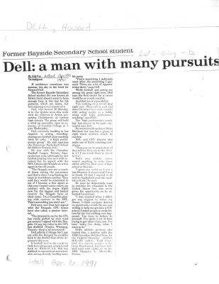 Dell: a man with many pursuits
