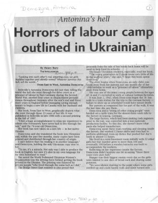 Horrors of labour camp outlined in Ukrainian