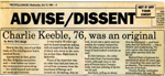 Charlie Keeble, 76, was an orininal