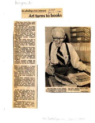 Art turns to books