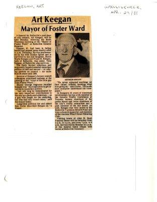 Art Keegan: Mayor of Foster Ward