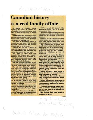 Canadian History is a real family affair
