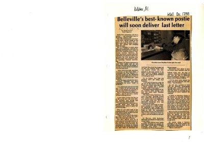 Belleville's best-known postie will soon deliver last letter
