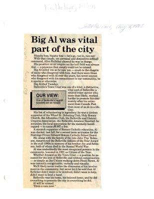 Big Al was vital part of the city