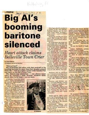 Big Al's booming baritone silenced