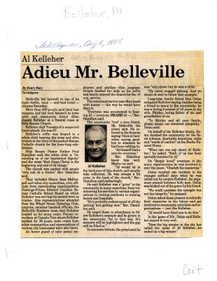 Adieu Mr. Belleville: Al Kelleher