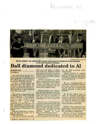 Ball diamond dedicated to Al