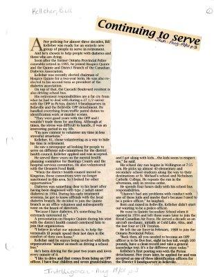 Continuing to serve: Bill Kelleher