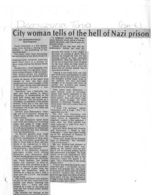 City woman tell of the hell of Nazi prison