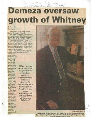 Demeza oversaw growth of Whitney